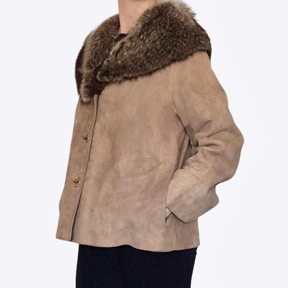 1960s Bonnie Cashin for Sills Suede Leather Fur C… - image 9