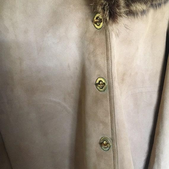 1960s Bonnie Cashin for Sills Suede Leather Fur C… - image 7