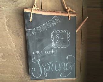 Large Hanging Chalkboard- Kitchen Chalkboard Tablet - Large with Leather hanger - Unique Birthday Gift