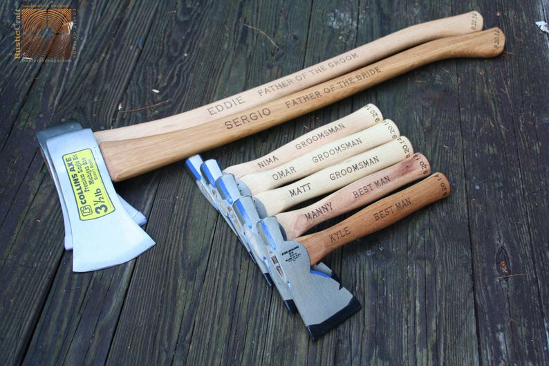 Personalized Hatchet - Groomsmen Gifts - Engraved Axe -Firefighter Gift-  Best Man Gift- Custom Hand engraved - Mens Gifts, Fathers Day Gifts