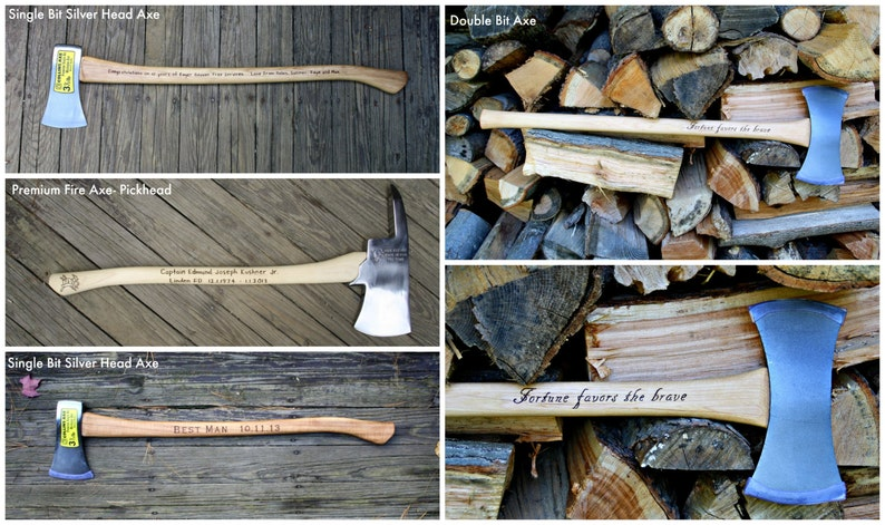 Personalized Axe - Long Axe - Engraved Axe - Firefighter Gift- Best Man  Gift- Urban Lumberjack- Splitting Axe- Hand engraved custom designed