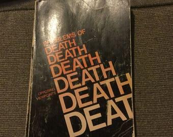 """Vintage Book """"Problems of Death"""" by David L Bender 1974"""