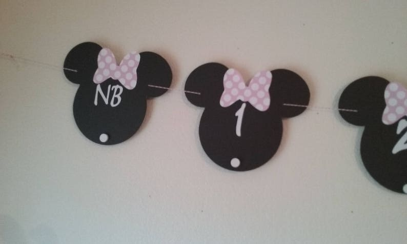 Minnie Mouse Photo Banner  Minnie Mouse Birthday Photo image 0