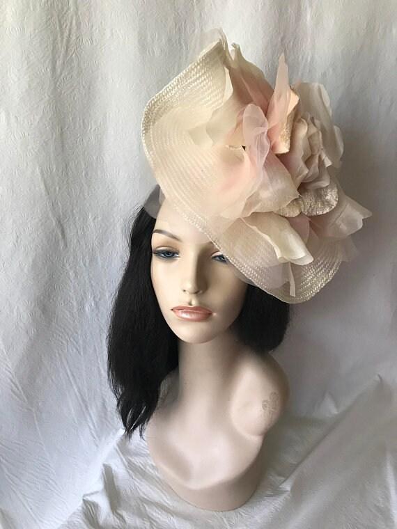 Blush Pink Fascinator Hat Bridal Mauve