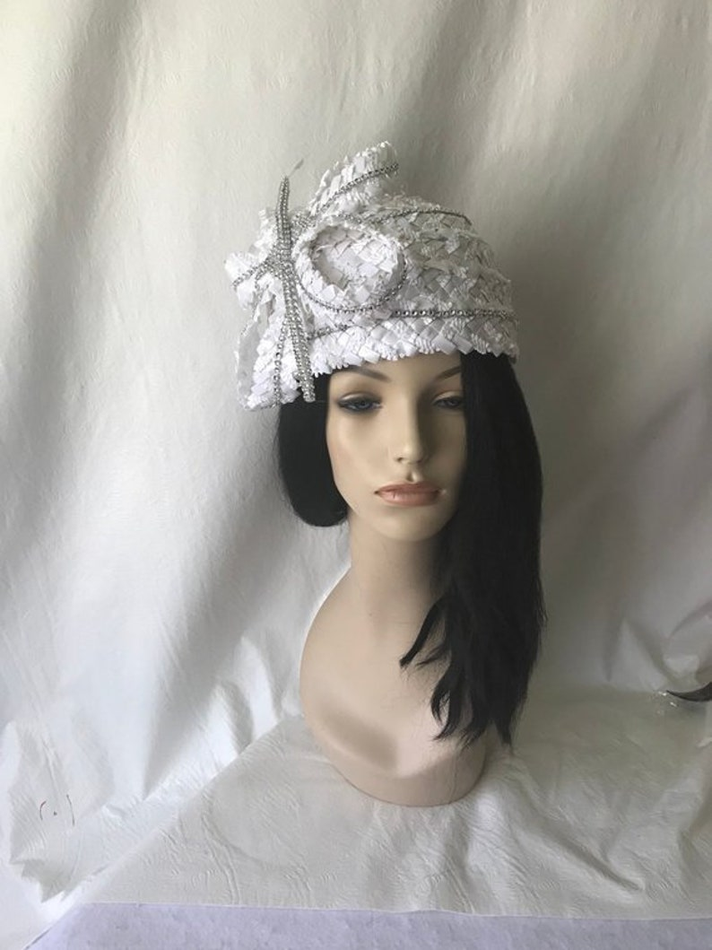 f2abb5d5 White Ladies Church Hat White Church Hat White Designer image 0 ...