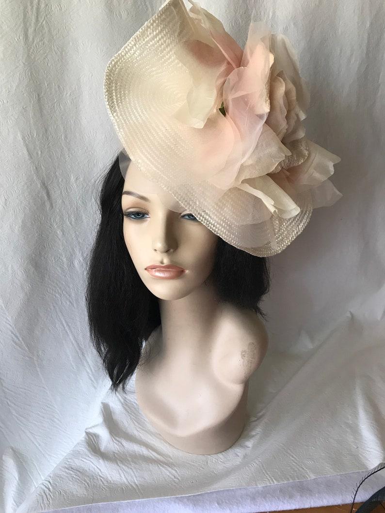 c152ccc38dd9b Kentucky Derby hat Derby hats blush pink fascinator hat