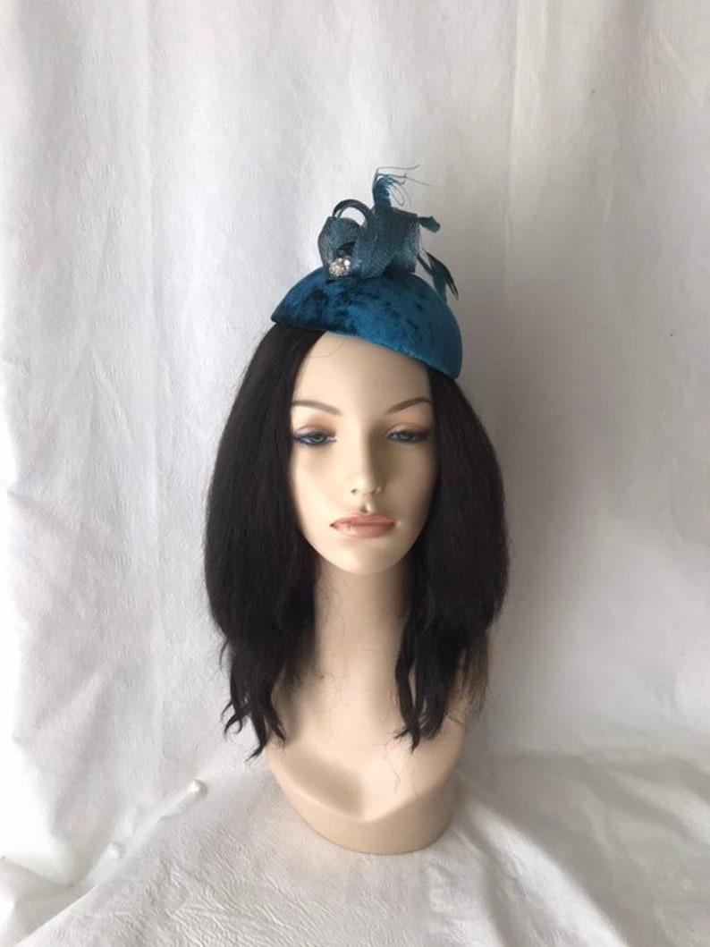 Women Lady Bride Blue Feather Peacock Race Melbourne Cup Hair Clip Fascinator