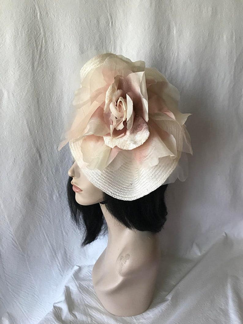 fb0be071e1ce8 Blush pink fascinator hat Blush Bridal hat Mauve
