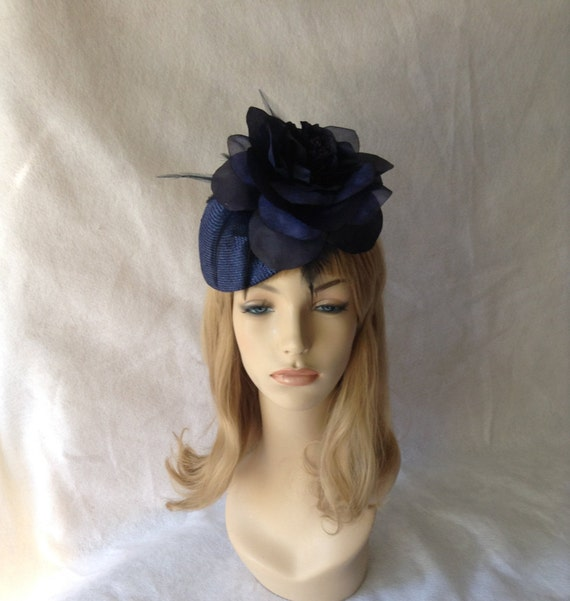 e9f44b897e9 Navy Derby Hat for racesnavy blue wedding fascinatorderby