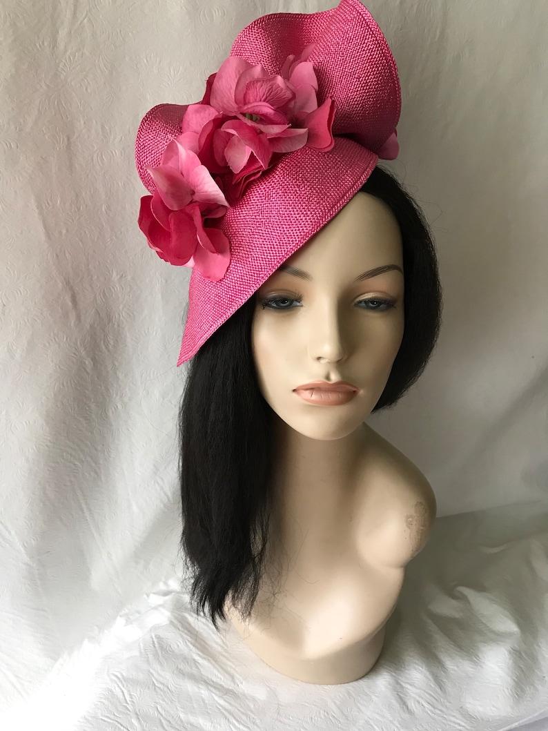 385d0550e81dc Hot pink Kentucky Derby hatDerby fascinatorHot Pink