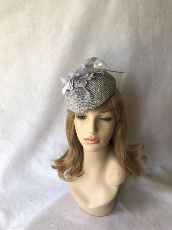 Grey Fascinator hat Gray wedding fascinator Mother of the  5b033628e01