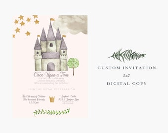 Princess Birthday // Digital Invitation // Castle // Princesses // Best Seller
