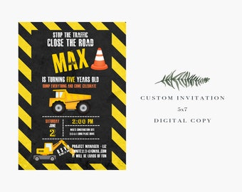 Construction // Birthday Invitation // Digital Copy // Road Work // Hometown Hero // Best Seller