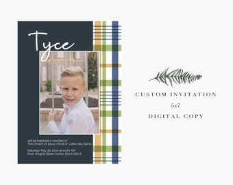 LDS Baptism Invitation // Digital Copy // Baptism Announcement // Best Seller