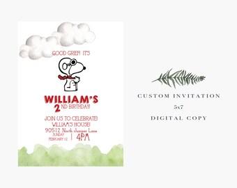 Snoopy // Birthday Invitation // Digital Copy // Peanuts // Best Seller