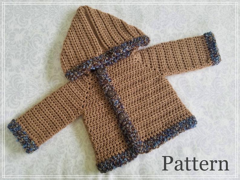 62cd9b881 Crochet PATTERN The Bode Baby Boy s Sweater Pattern Sizes