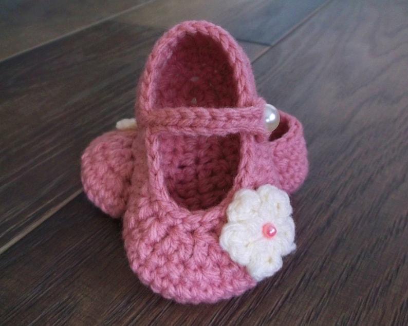 0c914ac56c578 Crochet Baby Booties Pink Baby Booties Pink Crochet Booties | Etsy