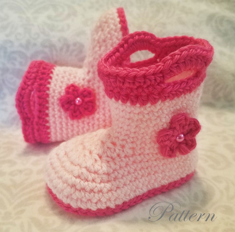 51557bce89b49 Crochet PATTERN Baby Rain Boot Pattern Bootie Pattern Crochet Pattern Baby  Boot Crochet Pattern