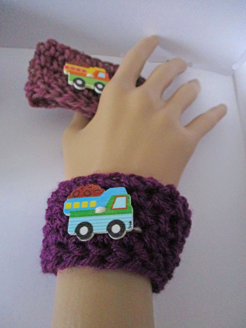Ready to Ship Three Crochet Bracelet Cozies to Fit Over 3.6-4 Oz Ice Cream Container Snack-Sized Ice Cream Sleeve Trio