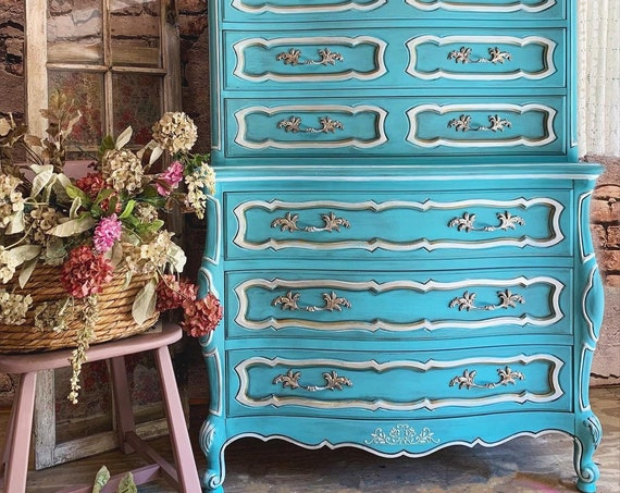 SOLD - SOLD Tall Highboy French Provincial Dresser - Custom Design Me