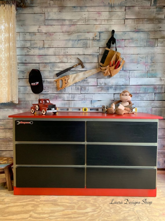 Toolbox Dresser - Garage Shop Furniture - Boys Furniture - Race Car Furniture