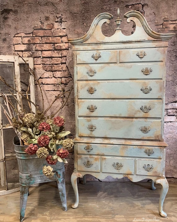 Antique Dresser - Queen Anne Style