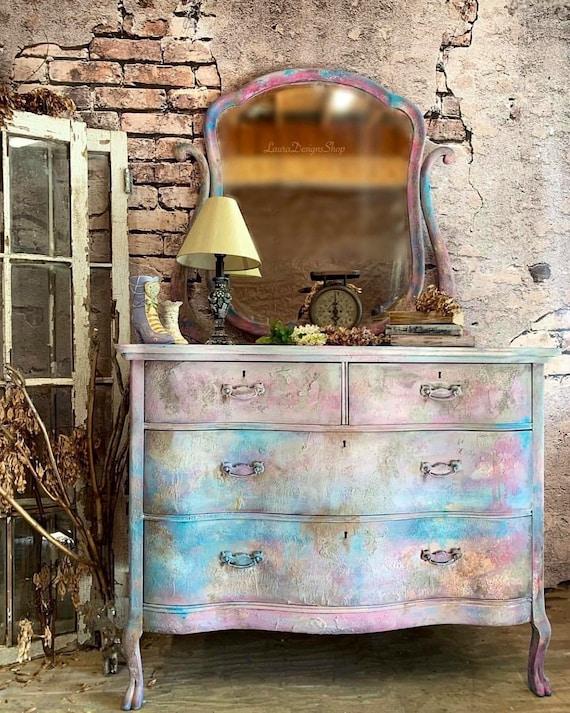 Boho Dresser with Mirror