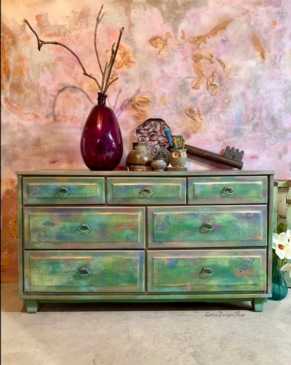 Boho Dresser with Nightstand