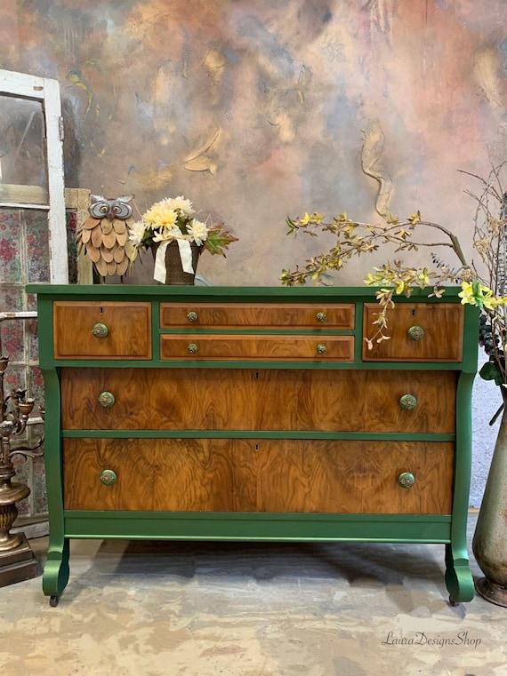 Metallic Green Dresser