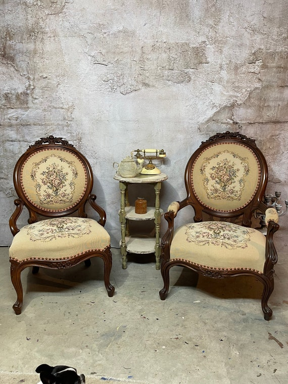 Antiques His & Hers antique chairs FREE SHipping ( SALE )