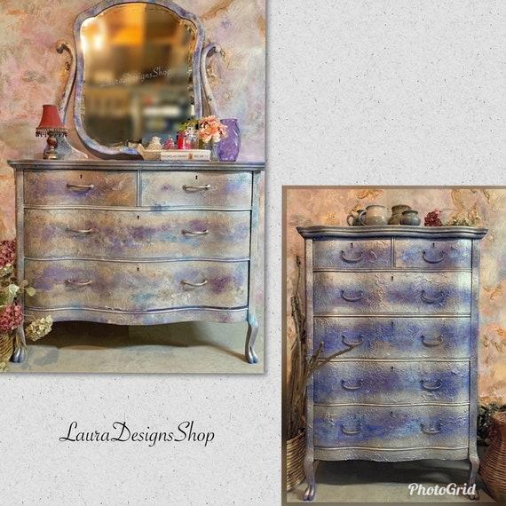 Boho Furniture Set - 2 Dressers Tall and Long