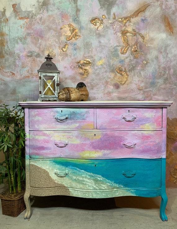 Painted Beach Dresser