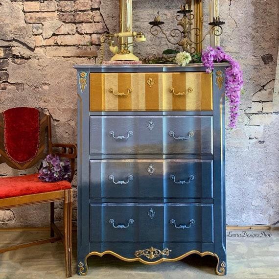 Boho Metallic Dresser