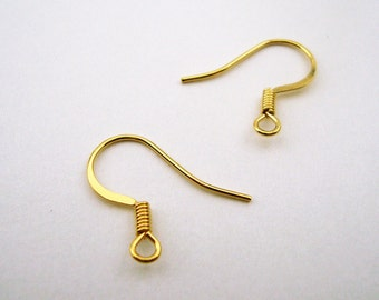 UPGRADE - 14K Gold Plated Brass Fish Hook Ear Wires