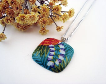 Tropical Paradise - Upcycled Plastic Earrings Necklace