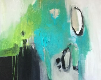 Teal Abstract Art/Painting