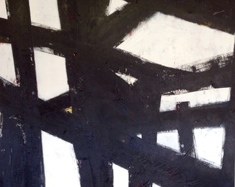 """40""""x30"""" Abstract Black and White Art/Painting"""