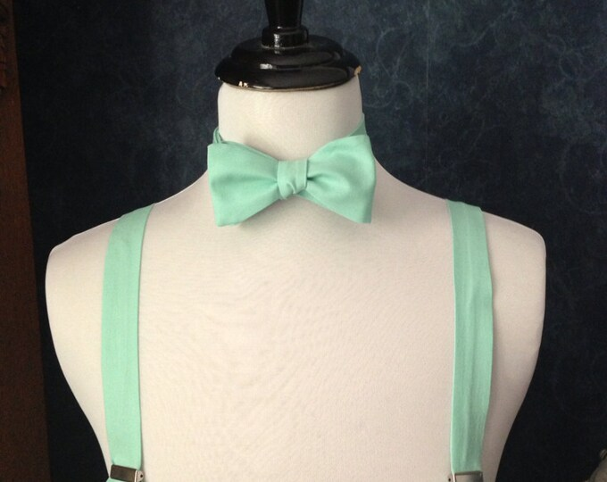 Pond Adult bow tie and suspender set
