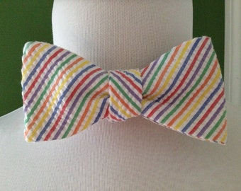 Bow Tie Seersucker Classic Stripe Multi-color