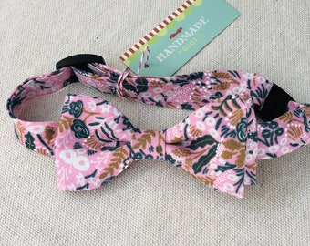 Child Pink Forest Rifle Paper Co. Bow Tie with Flowers