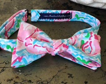 Adult Lobster Lilly Pulitzer Bow Tie