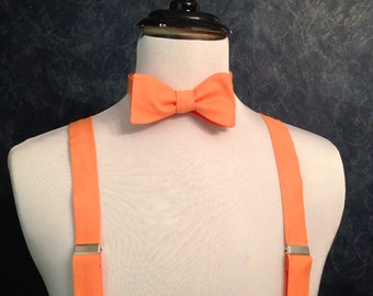 Mango Adult bow tie and suspender set