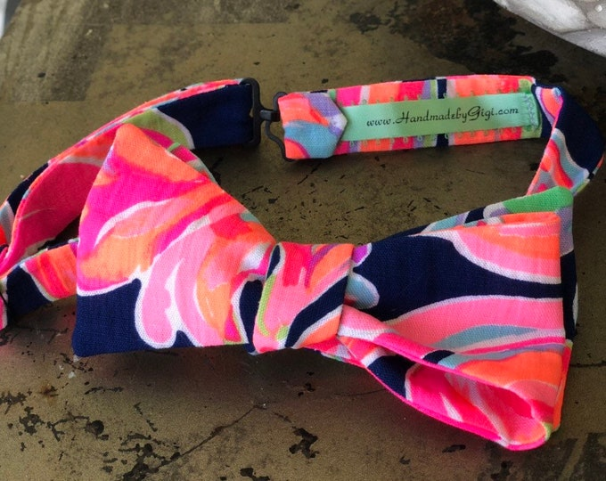 Adult Navy Neon Lilly Pulitzer Bow Tie