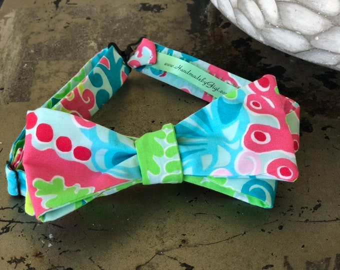 Adult Chameleon Lilly Pulitzer Bow Tie