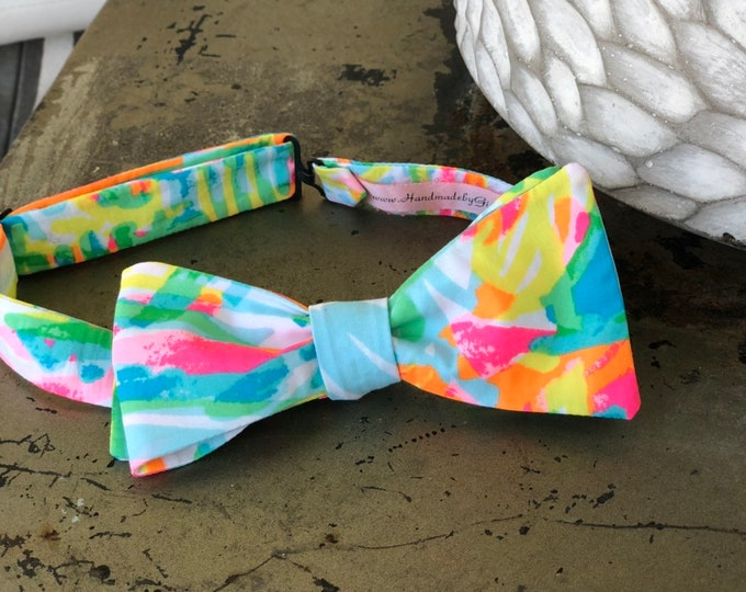 Adult Multi Neon Lilly Pulitzer Bow Tie
