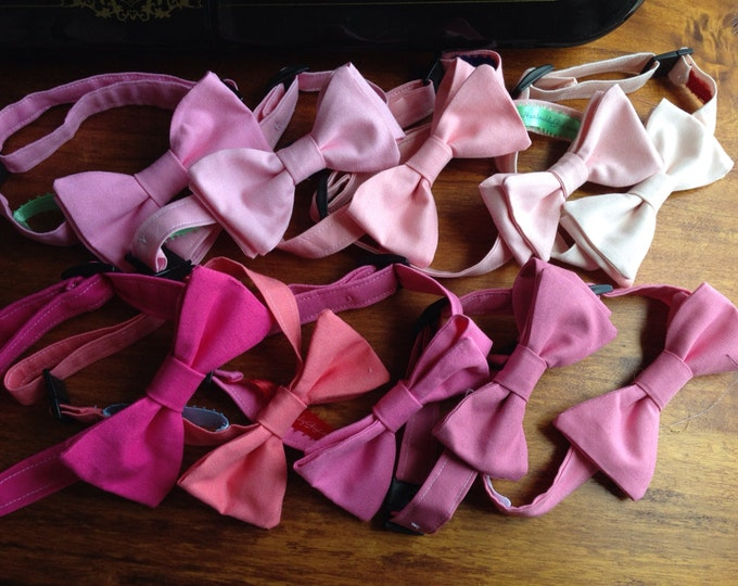 Child Bow Tie Adjustable (pick your shade of Pink)