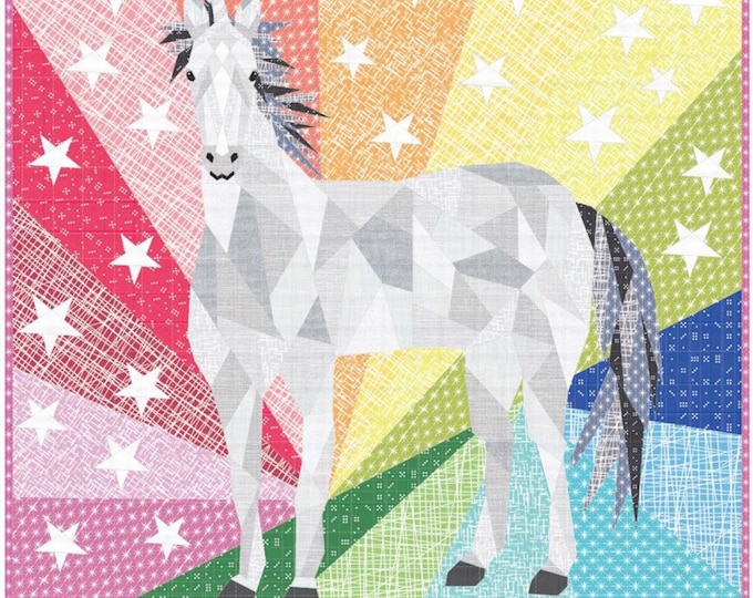 The Unicorn and Horse Abstraction Quilt Kit (Kaufman Violet Craft Modern)