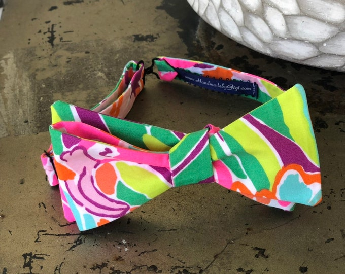 Adult Flamimgo Lulu Lilly Pulitzer Bow Tie