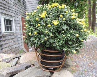 Basket, Copper Tube Basket, Very good condition, garden, table centerpiece, Vintage