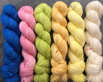 New Base* various colourways, 80/20 sw merino nd bamboo, fingering weight